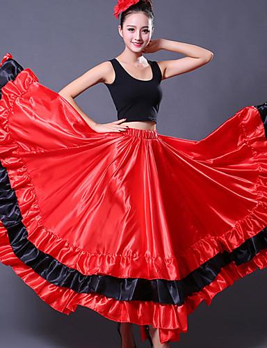 levne Shall We®-Standardní tance Spodní část oděvu Dámské Trénink Polyester Klín Vlna Spuštený Sukně