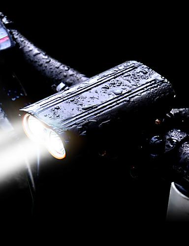 billige Sykkellys og reflekser-LED Sykkellykter Frontlys til sykkel LED Fjellsykling Sykkel Sykling Vanntett 360° rotasjon Flere moduser Super Bright 2400 lm Oppladbar Usb 18650 Hvit Sykling / Aluminiumslegering / Vidvinkel