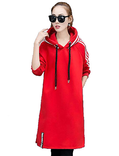 11abc5602f4 Dámské Elegantní   moderní Bavlna Dlouhé Mikina s kapucí - S proužky   Jaro    Podzim 5600353 2019 –  18.89