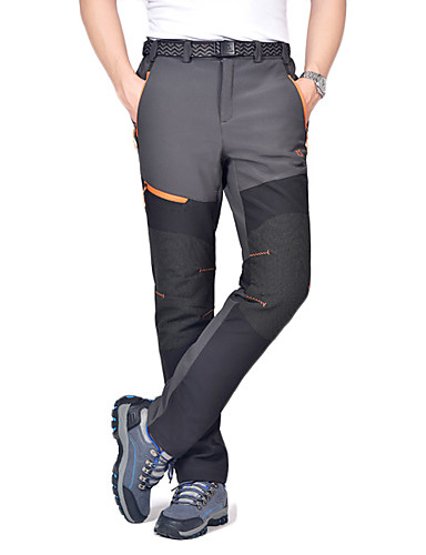 cheap Hiking Trousers & Shorts-Men's Hiking Pants Softshell Pants Outdoor Waterproof Thermal / Warm Windproof Winter Fleece Pants / Trousers Camping / Hiking Hunting Climbing Black Dark Grey Army Green XL XXL XXXL / Breathable