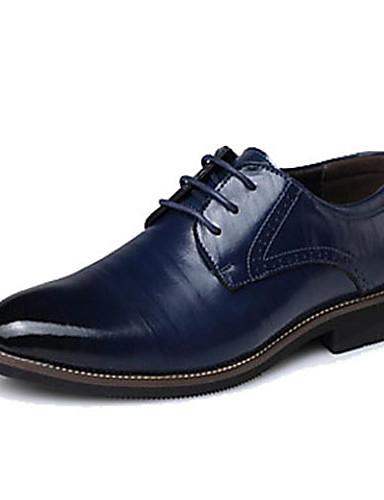 cheap 11.11 - Men's Oxfords Best Sale-Men's Formal Shoes Leather / Cowhide Spring / Fall Oxfords Black / Yellow / Blue / Party & Evening / Split Joint / Party & Evening / EU40