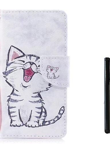 tok Για Samsung Galaxy J7 (2017) / J5 (2017) / J5 (2016) Πορτοφόλι / Θήκη καρτών / Ανοιγόμενη Πλήρης Θήκη Γάτα Σκληρή PU δέρμα