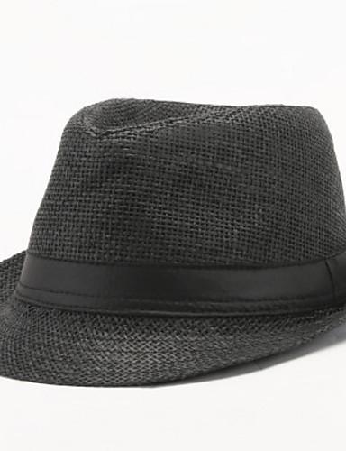 5f4c2ad2c5b7 [$4.99] Hombre Algodón Sombrero para el sol-Vintage Un Color Verano Blanco  Negro Marrón claro