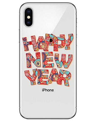 tok Για Apple iPhone X / iPhone 8 Plus / iPhone 8 Εξαιρετικά λεπτή / Διαφανής / Με σχέδια Πίσω Κάλυμμα Λέξη / Φράση Μαλακή TPU