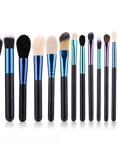 preiswerte Marken Make-up-Professional Makeup Bürsten Permanent Make-up Kit Zubehör 14pcs Umweltfreundlich Professionell Weich Ziegenhaarbürste Hölzern Make-up Pinsel zum