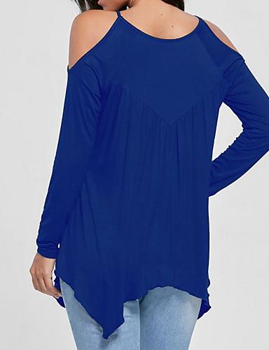 billige Dametopper-Bomull Tynn Med stropper / Løse skuldre T-skjorte Dame - Ensfarget Vintage Rød