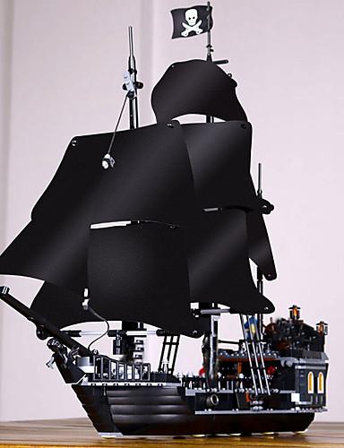 preiswerte Spielzeuge & Spiele-Black Pearl Bausteine Militärblöcke Bausatz Spielzeug 804 pcs Piraten Piratenschiff Soldier kompatibel Legoing Exquisit Vintage Stil Jungen Mädchen Spielzeuge Geschenk / Bildungsspielsachen