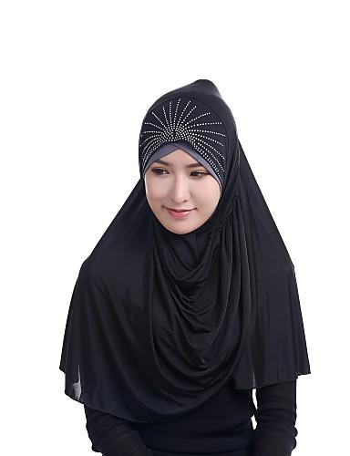 preiswerte Hidschab-Damen Party, Kunstseide Hidschab - Perlenbesetzt Solide