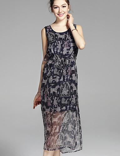 e3014e2976e3f Kadın's Temel Şifon Elbise - Çiçekli Midi Yüksek Bel 6564493 2019 – $85.99