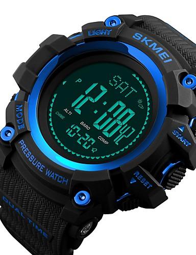SKMEI Ανδρικά Καθημερινό Ρολόι Αθλητικό Ρολόι Μοδάτο Ρολόι Χαλαζίας Συνθετικό δέρμα με επένδυση Μαύρο / Πράσινο 30 m 50 m Ανθεκτικό στο Νερό Bluetooth Ημερολόγιο Ψηφιακό Πολυτέλεια Καθημερινό -