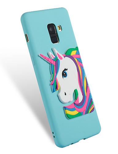 tok Για Samsung Galaxy A3 (2017) / A5 (2017) / A8 2018 Με σχέδια / Φτιάξτο Μόνος Σου Πίσω Κάλυμμα Μονόκερος Μαλακή TPU