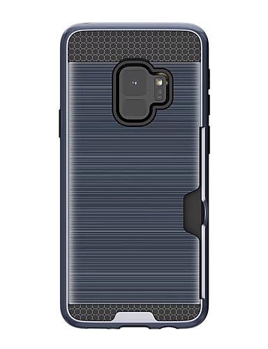 tok Για Samsung Galaxy S9 Θήκη καρτών Πίσω Κάλυμμα Συμπαγές Χρώμα Σκληρή Καουτσούκ