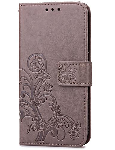 tok Για Samsung Galaxy S7 edge / S7 Θήκη καρτών / με βάση στήριξης / Ανοιγόμενη Πλήρης Θήκη Λουλούδι Σκληρή PU δέρμα