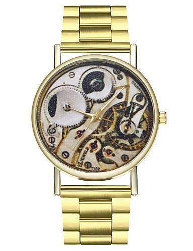 Γυναικεία Ανοξείδωτο Ατσάλι Χρυσό Χρονογράφος Φάση Σελήνης Μεγάλο καντράν Αναλογικό κυρίες Μοντέρνα - Χρυσό Ενας χρόνος Διάρκεια Ζωής Μπαταρίας / SSUO LR626