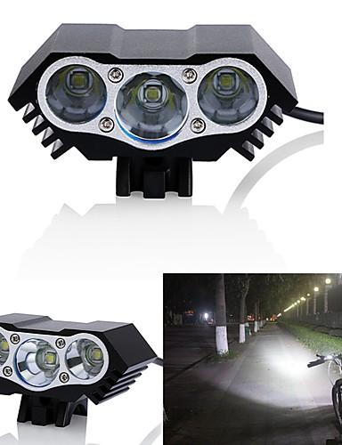 billige Sykkellys og reflekser-LED Sykkellykter Frontlys til sykkel LED Fjellsykling Sykkel Sykling Vanntett Flere moduser Super Bright Vidvinkel 18650 3000 lm DC-drevet Sykling / Aluminiumslegering / IPX-5