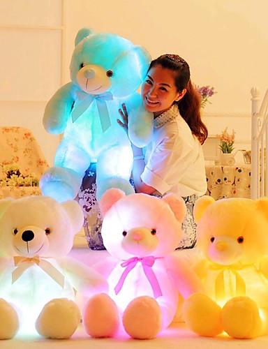 cheap Kids' Dolls, Playsets & Stuffed Animals-Romance Creative Teddy Bear Stuffed Animal Plush Toy Lovely LED Silicone Girls' Toy Gift