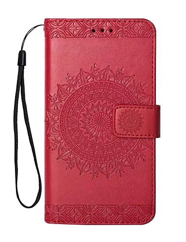 tok Για Apple iPhone X / iPhone 8 Plus / iPhone 8 Πορτοφόλι / Θήκη καρτών / με βάση στήριξης Πλήρης Θήκη Μονόχρωμο Σκληρή PU δέρμα