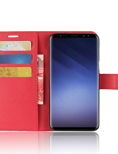 tok Για Samsung Galaxy S9 / S9 Plus / S8 Plus Πορτοφόλι / Θήκη καρτών / Ανοιγόμενη Πλήρης Θήκη Μονόχρωμο Σκληρή PU δέρμα