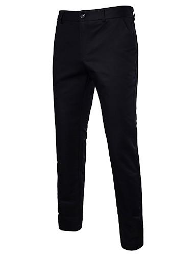 d19c1a8608 férfi normál középnövekedésű mikro-rugalmas öltöny nadrág, utcai elegáns,  szilárd poliészter tavaszi nyár 6562739 2019 – $26.99