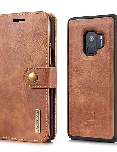 tok Για Samsung Galaxy S9 / S9 Plus / S8 Plus Πορτοφόλι / Θήκη καρτών / Ανοιγόμενη Πλήρης Θήκη Μονόχρωμο Σκληρή γνήσιο δέρμα