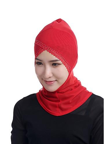 preiswerte Hidschab-Damen Grundlegend Hidschab - Perlenbesetzt / Gitter Solide / Jacquard