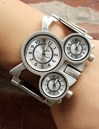 cheap Couple Watches-Oulm Women's Couple's Casual Watch Sport Watch Fashion Watch Japanese Quartz Silver Casual Watch Analog Ladies Luxury Casual Steampunk - White Black