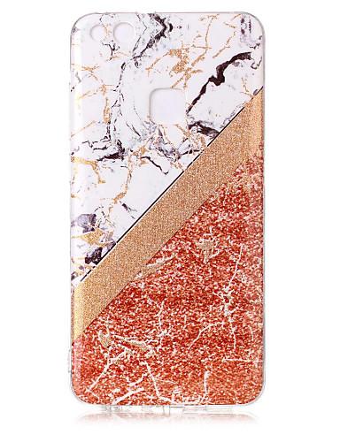 Etui Til Huawei P10 Lite / Huawei P9 Lite / P8 Lite (2017) IMD / Mønster / Glitter Bakdeksel Glimtende Glitter / Marmor Myk TPU