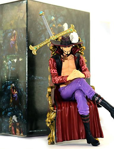 povoljno Maske i kostimi-Anime Akcijske figure Inspirirana One Piece Dracula Mihawk PVC 16.5cm CM Model Igračke Doll igračkama