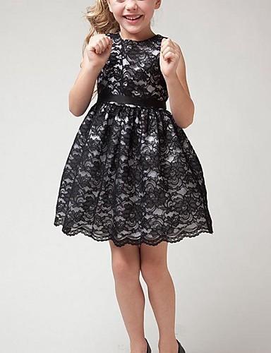Κοριτσίστικα Μπόχο Πάρτι Καθημερινά Μονόχρωμο Δαντέλα Δίχτυ Αμάνικο Φόρεμα Λευκό