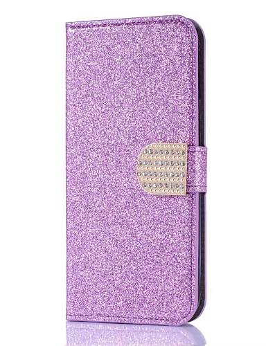 tok Για Samsung Galaxy J7 (2017) / J7 (2016) / J5 (2017) Πορτοφόλι / Θήκη καρτών / Στρας Πλήρης Θήκη Μονόχρωμο Σκληρή PU δέρμα