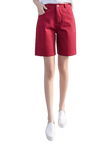 dfa944fc863d Dame Store størrelser Bomull Tynn Shorts Bukser - Ensfarget Grunnleggende  Gul XL 6597931 2019 –  15.74