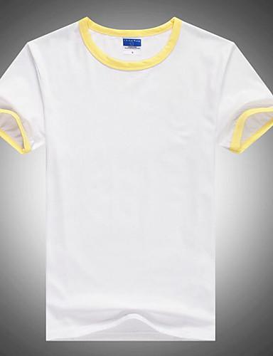 voordelige Heren T-shirts & tanktops-Heren Actief Standaard T-shirt Kleurenblok Ronde hals Oranje / Korte mouw / Lang