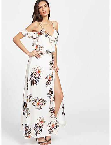 Γυναικεία Μπόχο Φαρδιά Φαρδιά Φόρεμα - Φλοράλ f5d57e3d426
