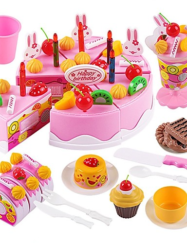 cheap Kids' Dress Up & Pretend Play-Toy Kitchen Set Pretend Play Holiday Family Cake Exquisite Parent-Child Interaction Kid's Boys' Girls' Toy Gift 75 pcs