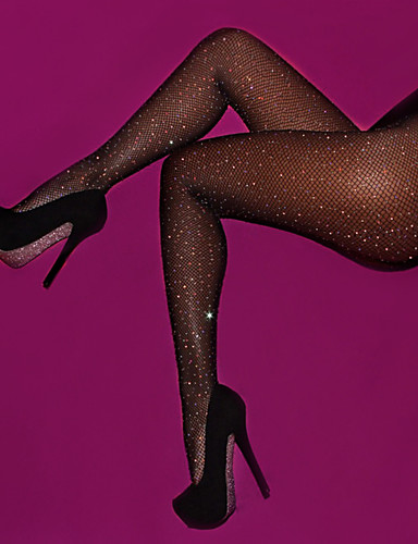 cheap Socks & Hosiery-Women's Thin Sexy Pantyhose - Solid Colored, Sequins Beige Fuchsia Khaki One-Size / Going out / Club