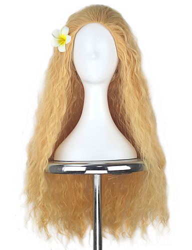povoljno Maske i kostimi-Moana Princeza Moana Cosplay Wigs Žene Djevojčice 32 inch Otporna na toplinu vlakna Zlatan Anime