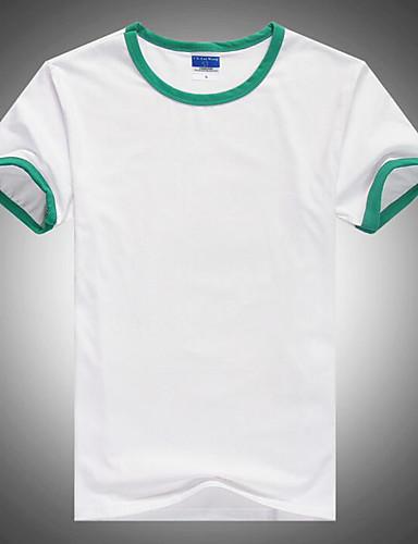 preiswerte Ausverkauf-Herrn Einfarbig - Aktiv T-shirt, Rundhalsausschnitt Grundlegend Orange / Kurzarm / Lang