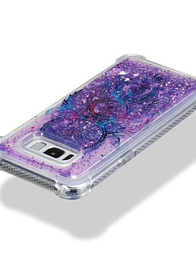 Capinha Para Samsung Galaxy S8 Plus / S8 / S7 edge Antichoque / Liquido Flutuante / Estampada Capa traseira Apanhador de Sonhos / Glitter Brilhante Macia TPU