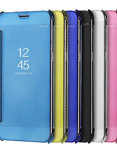 tok Για Samsung Galaxy S9 / S9 Plus Επιμεταλλωμένη / Καθρέφτης Πλήρης Θήκη Συμπαγές Χρώμα Σκληρή PU δέρμα