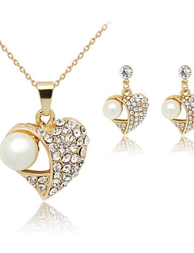 preiswerte Hualuo®-Damen Perlen Schmuckset damas Ohrringe Schmuck Weiß Für Party Geburtstag Verlobung Geschenk Alltag Normal / Halsketten