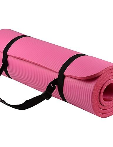 povoljno Vježbanje, fitness i joga-Yoga Mat 183*61*1 cm Odor Free Eco-friendly Ljepljiv Non Toxic Guma Vodootporno Quick dry Ne skliznuti Za Yoga Pilates Bikram Crn Pinky Ljubičasta