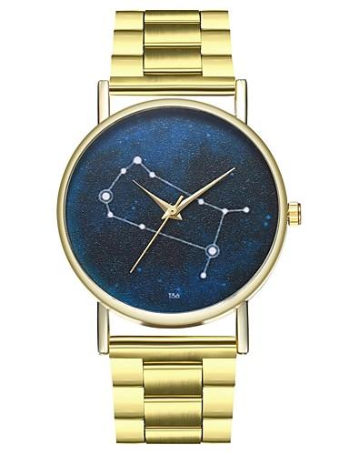 Γυναικεία Ανοξείδωτο Ατσάλι Χρυσό Χρονογράφος Καθημερινό Ρολόι Φάση Σελήνης Αναλογικό κυρίες Μοντέρνα - Χρυσό Ενας χρόνος Διάρκεια Ζωής Μπαταρίας / SSUO LR626