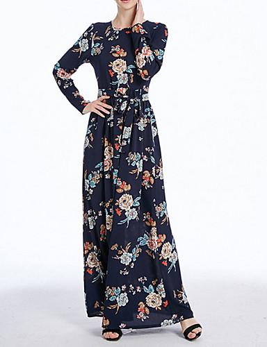 1d0f382321a9 Γυναικεία Εκλεπτυσμένο Αμπάγια   Καφτάνι Φόρεμα - Φλοράλ