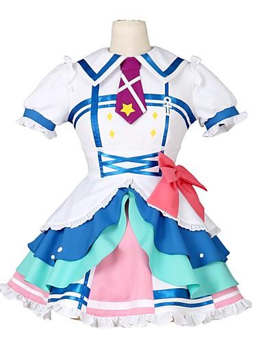 povoljno Anime cosplay-Inspirirana Ljubav uživo Kurosawa Ruby Anime Cosplay nošnje Japanski Cosplay Suits Other Kratkih rukava Haljina / Luk / More Accessories Za Muškarci / Žene