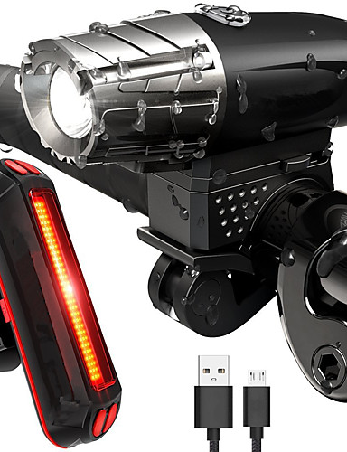povoljno ljetni popust-LED Svjetla za bicikle Set svjetala za bicikl s mogućnošću punjenja Prednje svjetlo za bicikl Stražnje svjetlo za bicikl LED Brdski biciklizam Bicikl Biciklizam Vodootporno Višestruka načina Super