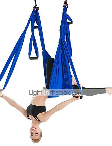 povoljno Vježbanje, fitness i joga-Ljuljačka za zračnu jogu Remen za leteću jogu Viseća ležaljka za jogu Podstavljena pjena Najlon Vrlo snažna antigravitacija Izdržljivost Protiv kidanja Dekompresijska inverzijska terapija Zračna joga