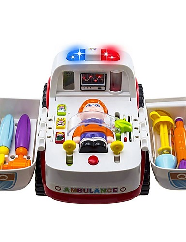 cheap Kids' Diecasts & Toy Vehicles-Toy Car Vehicles Ambulance Vehicle Parent-Child Interaction A Grade ABS Plastic Boys' Girls'