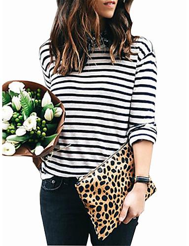 28de66c3b667 T-shirt - Taglie forti Per donna Per eventi Moda città A strisce Cotone    Primavera   Autunno del 6630731 2019 a  11.69