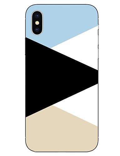 Etui Til Apple iPhone X / iPhone 8 Plus / iPhone 8 Mønster Bakdeksel Linjer / bølger Myk TPU