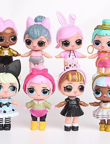 cheap Kids' Action & Toy Figures-Tronzo 8Pcs/Bag Kawaii Boneca Animals Action Figure Lovely People Plastic Shell Anime Princess 8 pcs Adults' Boys' Girls' Toy Gift